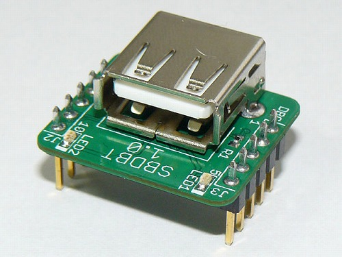 Small PIC board with USB Host SBDBT