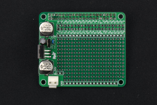 Universal Board for Raspberry Pi with DC/DC